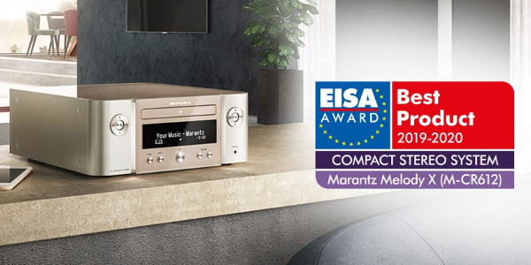 Компактная система Marantz Melody X (M-CR612) признана Экспертной Ассоциацией Аудио и Видео изданий «Лучшей компактной стерео системой 2019-2020 года» !